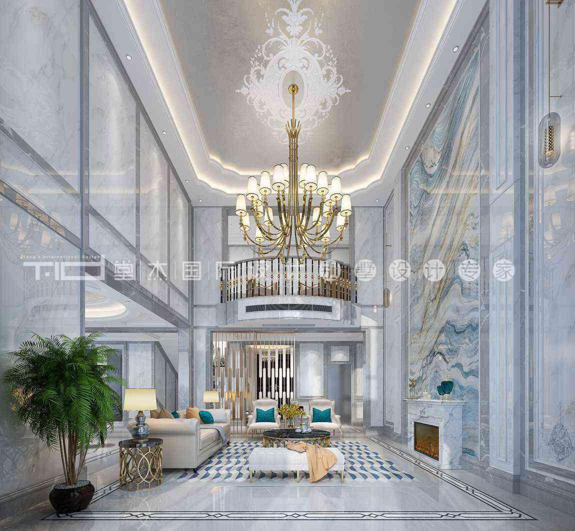 现代轻奢风格-印象剑桥-独栋别墅-500平-装修效果图