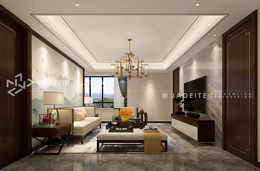 新中式风格-天力正和花园-三室两厅-140平-装修效果图