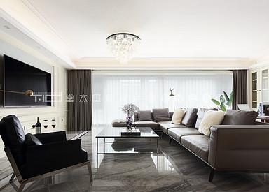 九龙仓御玺156平美式轻奢风格全案整装实景样板间视频