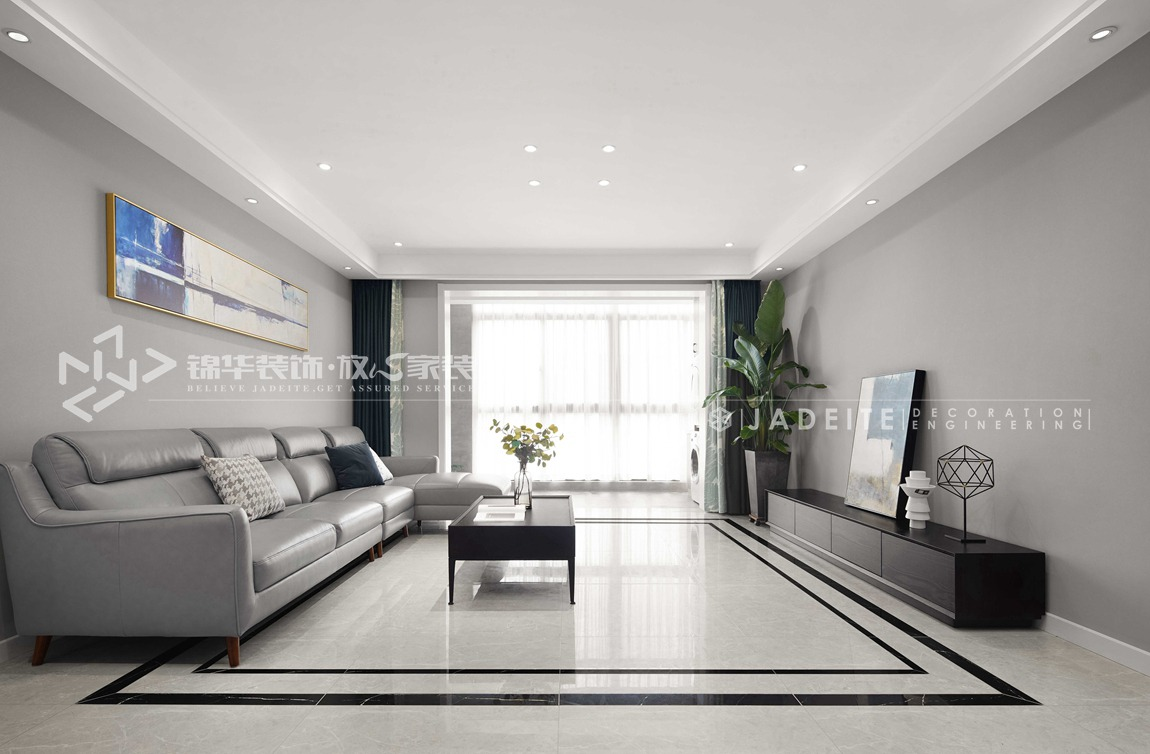 现代风格-天骄铭邸-四室两厅-160平-装修实景效果图