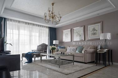 美式轻奢风格-太湖国际拾壹峯-四室两厅-159平-装修实景效果图