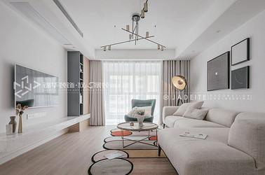 现代风格-阳光国际-三室两厅-140平-装修实景效果图