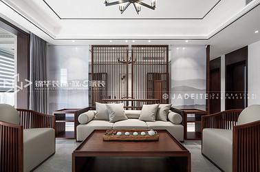 新中式风格-保利香槟国际-三室两厅-156平-装修实景效果图