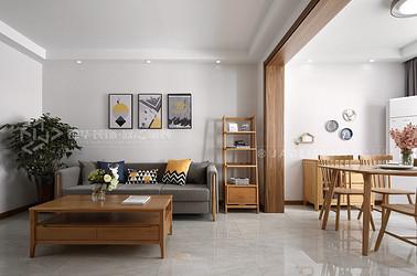 北欧-东虹花园-80平-两室两厅-装修实景效果图