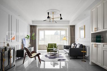现代法式混搭-博大欢乐颂-120平-两室两厅-装修实景效果图