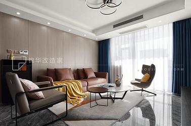 现代简约-隽府园-135平-三室两厅-装修实景效果图