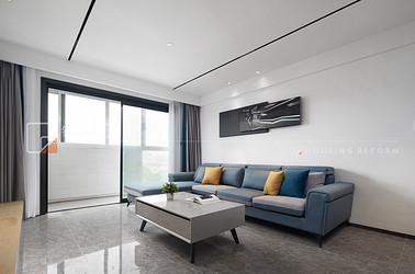 现代简约-梁南苑-128平-三室两厅-装修实景效果图