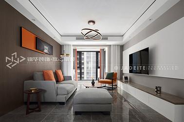现代简约风格-金科中心-120平-三室两厅-装修实景效果图