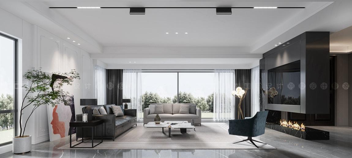 现代风格-长泰国际-别墅-400平-装修效果图