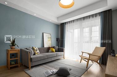 现代风格-吉宝凌云峰阁-三室两厅-89平-装修效果实景图