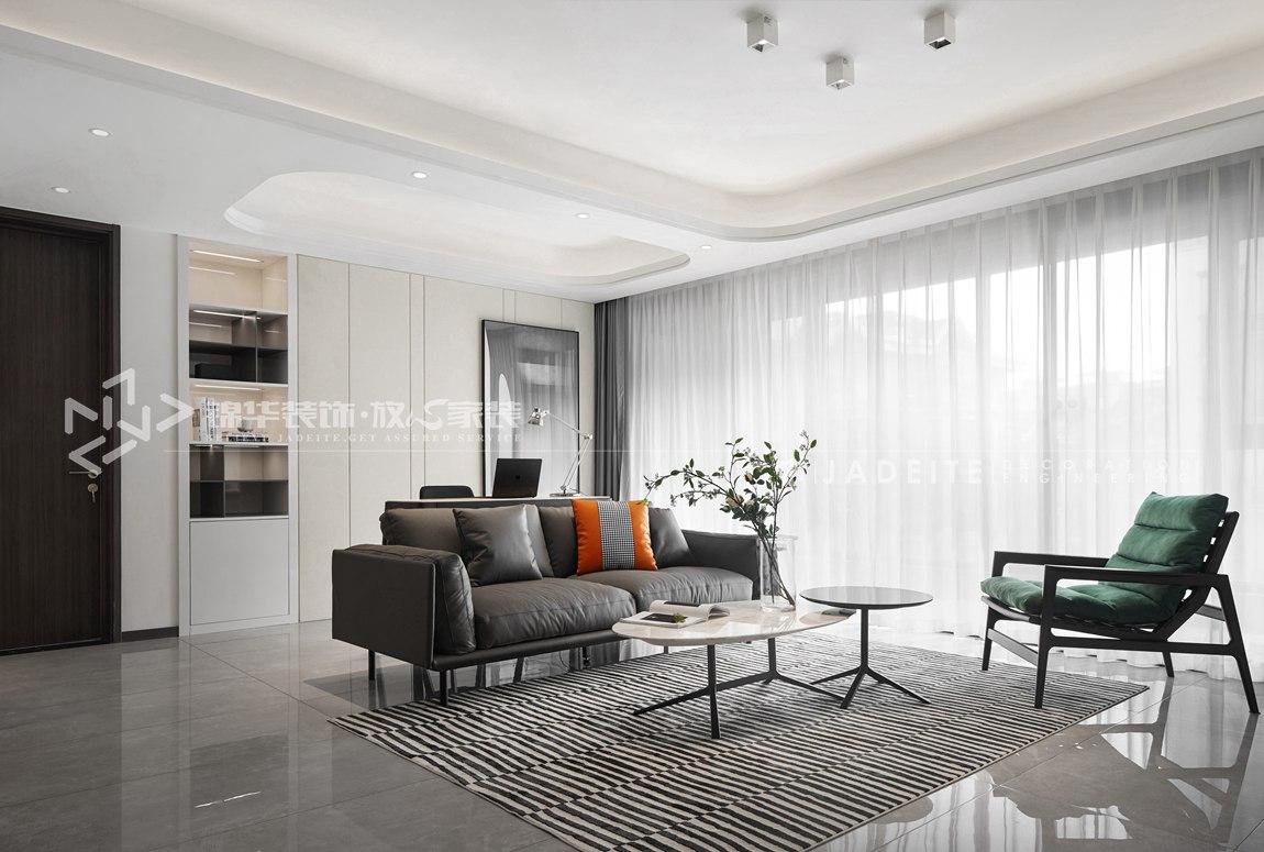 现代风格-万科维园-三室两厅-134平-装修效果实景图
