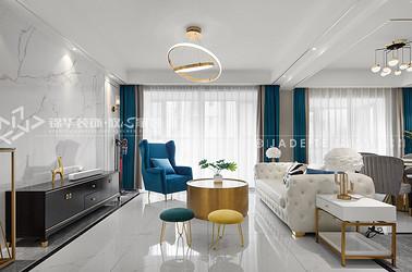 现代轻奢-梅公馆-三室两厅-140平-装修效果实景图