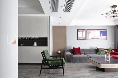 现代简约-融创玉兰璟园-三室两厅-140平-装修效果实景图