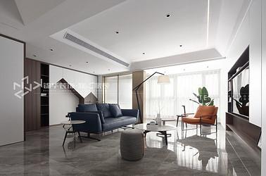 现代极简-融侨悦府-三室两厅-138平-装修效果实景图