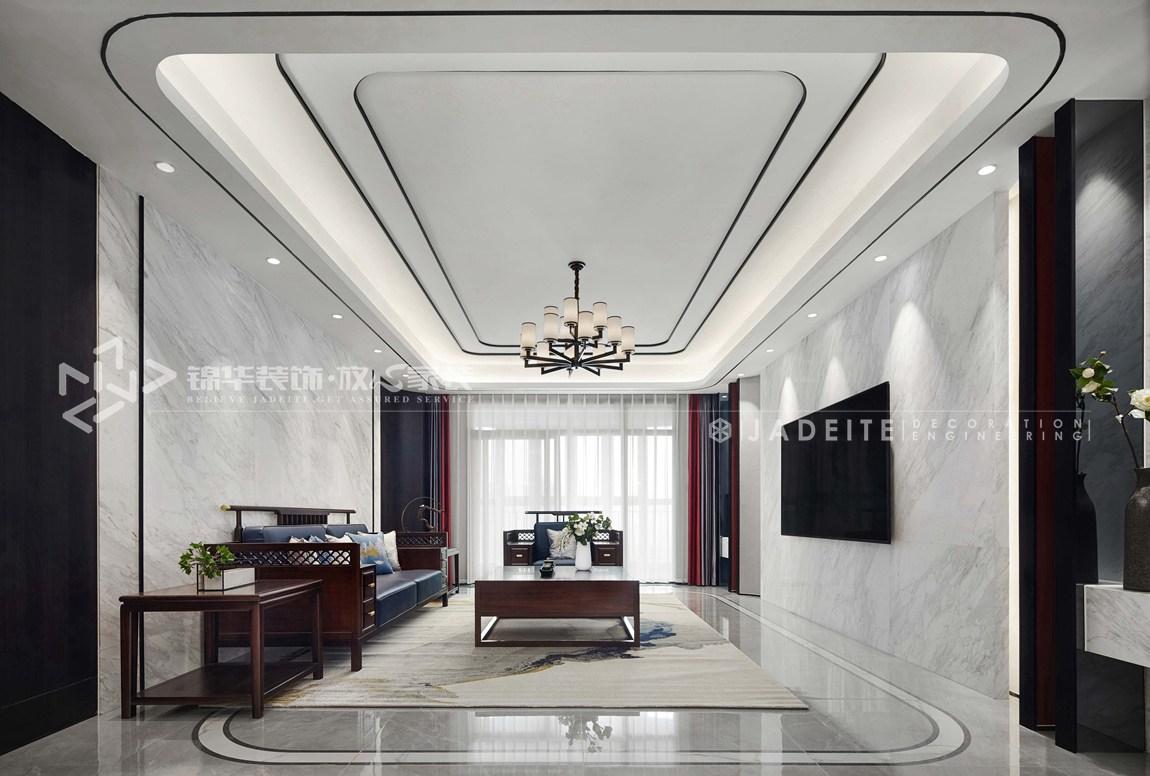 新中式-雅居乐-四室三厅-260平-装修效果实景图