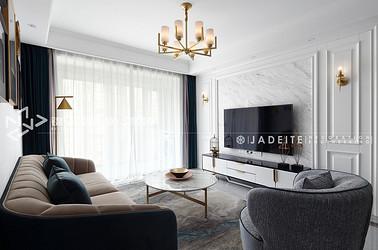 现代简约-保利中央公园-三室两厅-115平-装修效果实景图