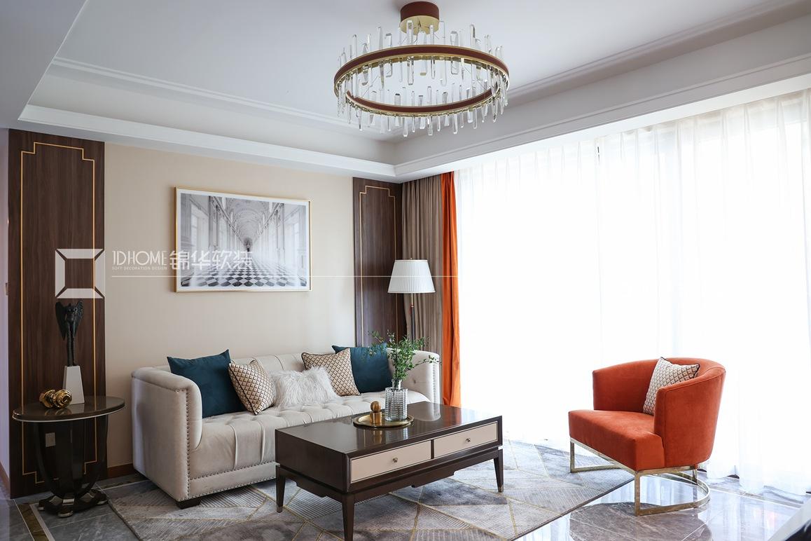 美式轻奢-天一玖著-四室两厅-140平-装修实景效果图