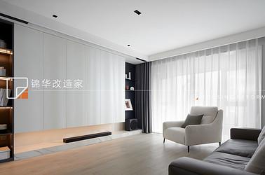 现代简约-九龙仓碧玺-三室两厅-127平-装修实景效果图