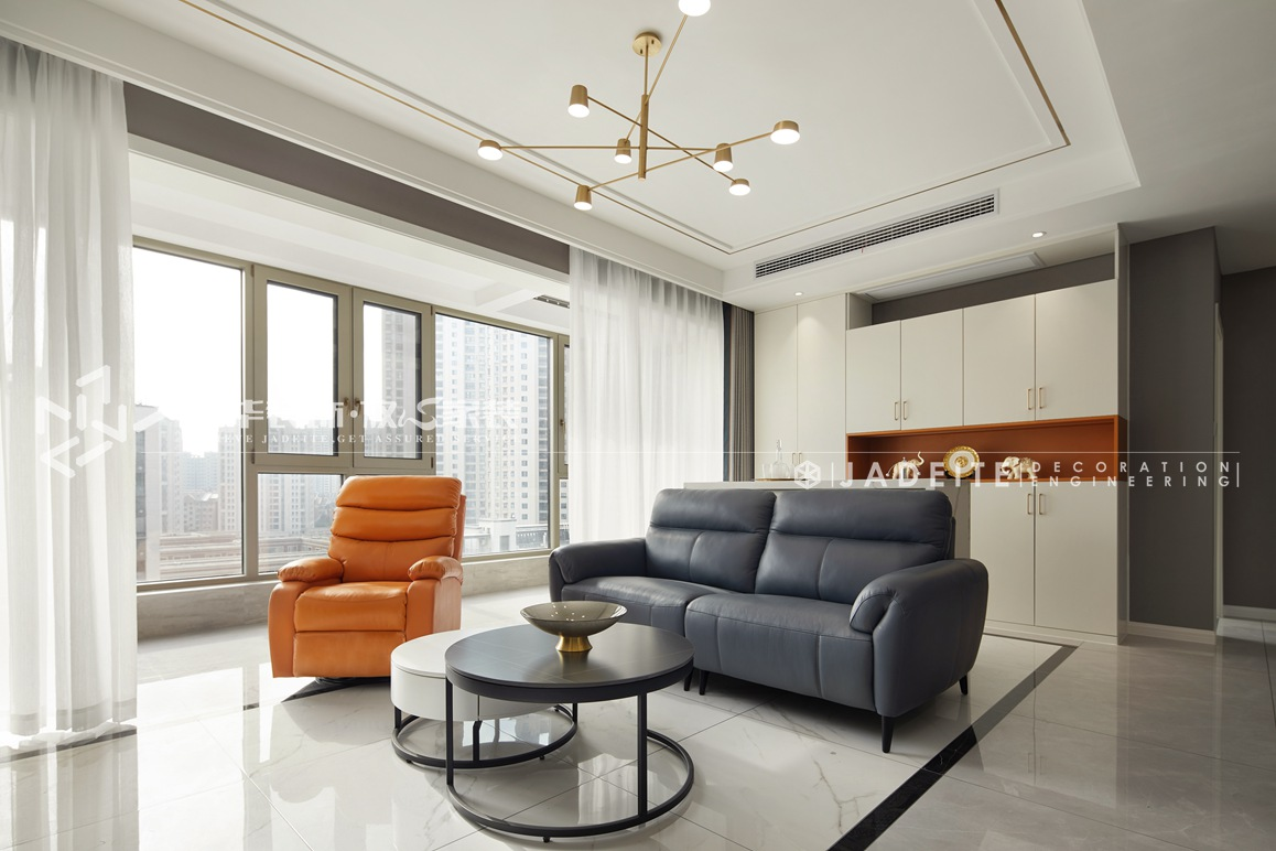 现代轻奢-富力运河十号-三室两厅-127平-装修实景效果图