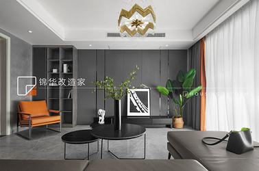 现代简约-蓝光雍锦园-三室两厅-140平-装修实景效果图