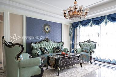 欧式风格-实地玫瑰庄园-三室两厅-150平-装修实景效果图