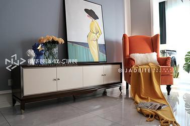 美式风格-丹芙春城-两室两厅-88平-装修实景效果图