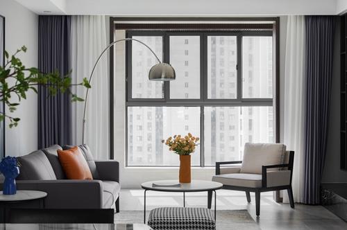 现代极简-孔雀雅园-三室两厅-128平-装修实景效果图