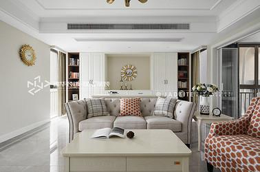 现代美式-东方天郡-三室两厅-143平-装修实景效果图
