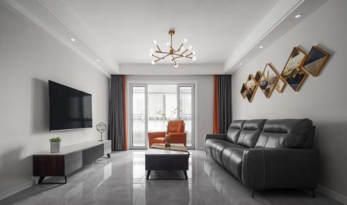 现代简约-海岸城-三室两厅-137平-装修实景效果图