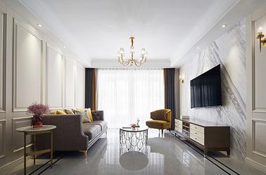 美式轻奢风格-华新一品御园-公寓-140平-装修实景效果图