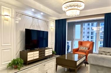 美式轻奢-协信未来城-三室两厅-132平-装修实景效果图