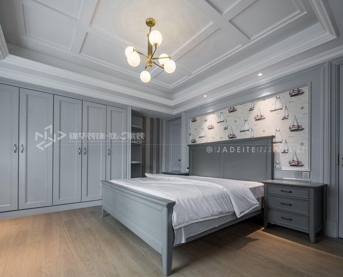 轻奢美式风格-狮山原著-四室三厅-450平-装修实景效果图-卧室