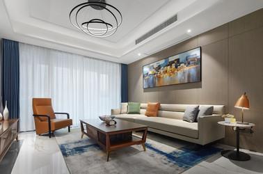 现代风格-玉兰花园-三室两厅-145平-装修实景效果图