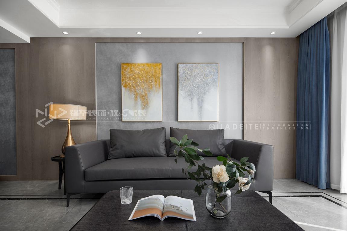 现代风格-华府庄园-四室两厅-148平-客厅-装修实景效果图