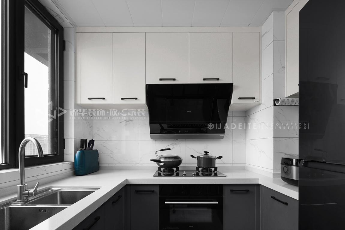 现代风格-太平洋城中城-四室两厅-143平-厨房-装修实景效果图