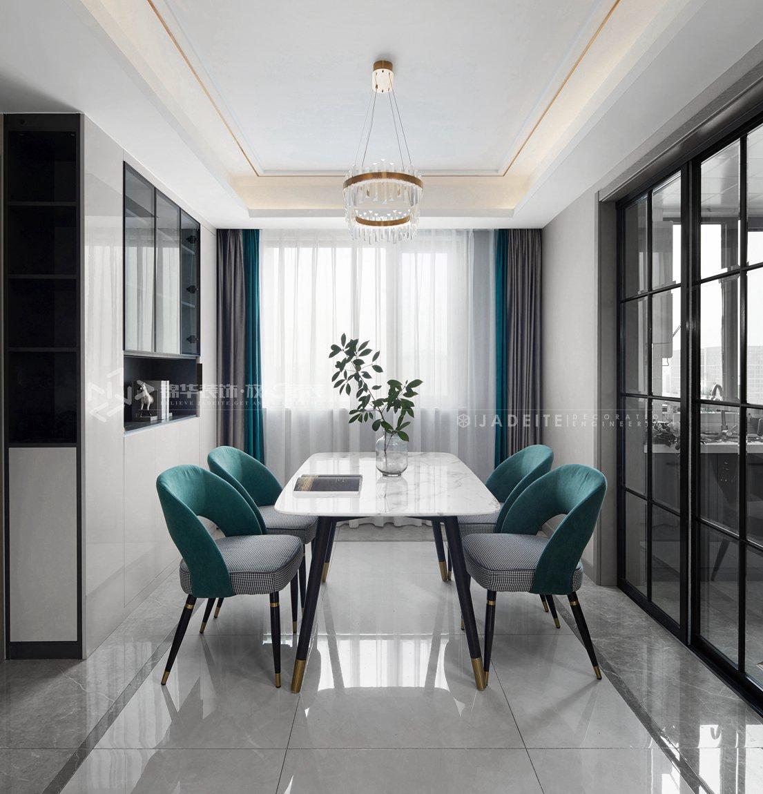 现代风格-太平洋城中城-四室两厅-143平-餐厅-装修实景效果图