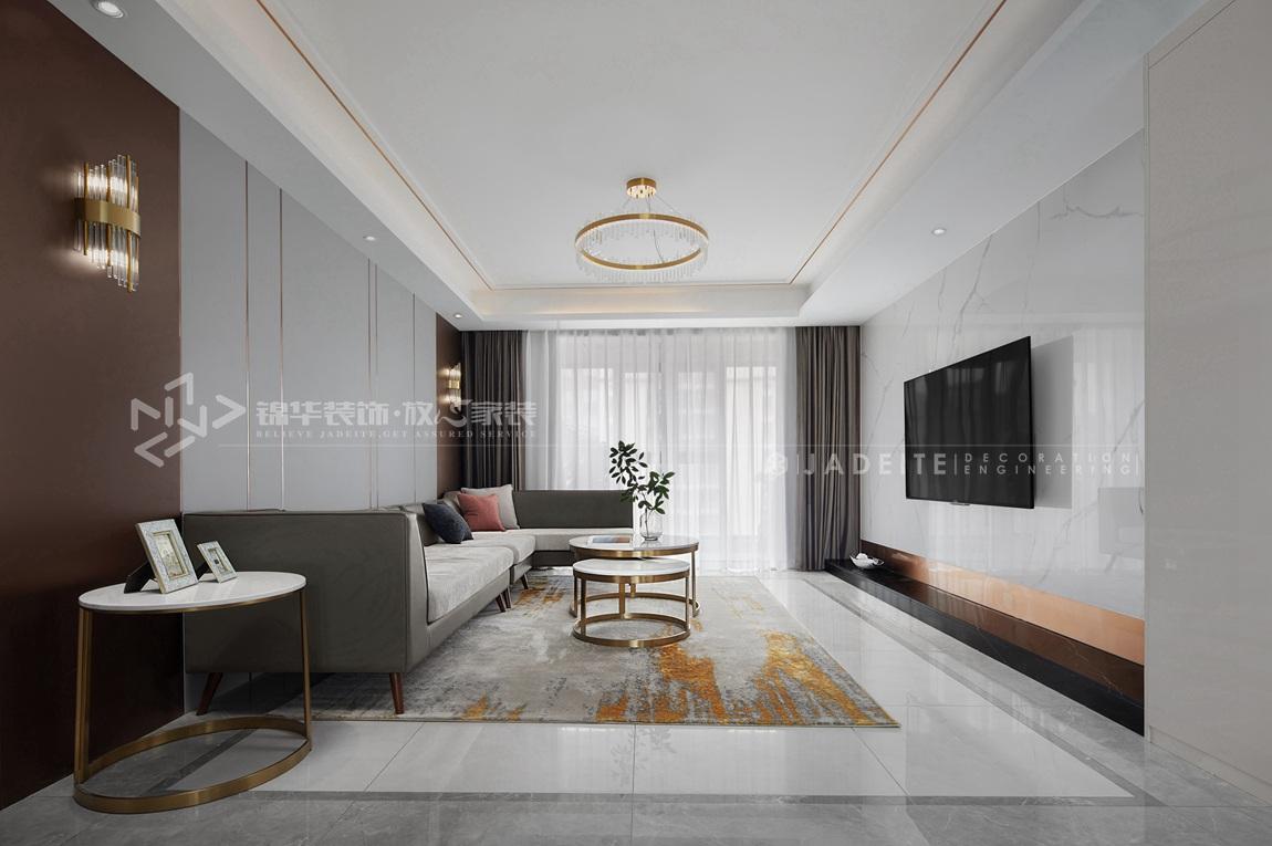 现代风格-太平洋城中城-四室两厅-143平-客厅-装修实景效果图