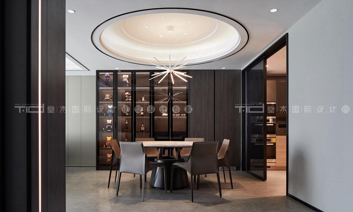 现代轻奢风格-玉兰花园-四室两厅-198平-餐厅-装修实景效果图