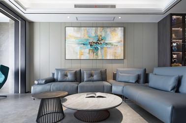 现代轻奢风格-玉兰花园-四室两厅-198平-装修实景效果图