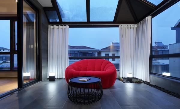 现代简约风格-盈科花园-双拼别墅-450平-装修实景效果图