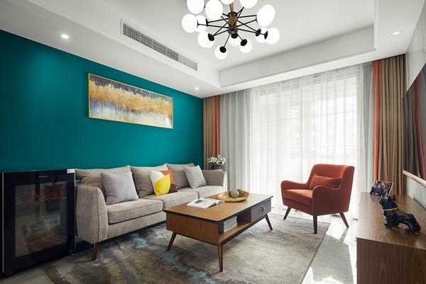 现代轻奢风格-龙湖悠山郡-三室两厅-89平-装修实景效果图
