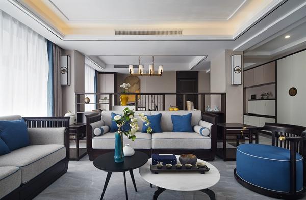 新中式风格-世贸公馆-四室两厅-200平-装修实景效果图