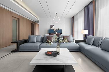 现代极简风格-百合国际-四室两厅-228平-装修实景效果图