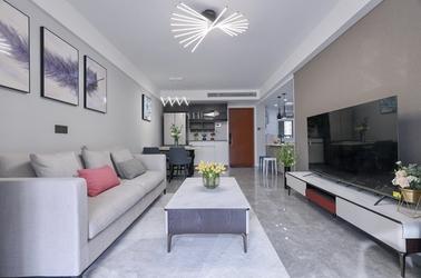 现代简约-朗诗未来-两室两厅-89平-装修实景效果图