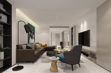 现代简约-红豆花园-三室两厅-140平-装修效果图