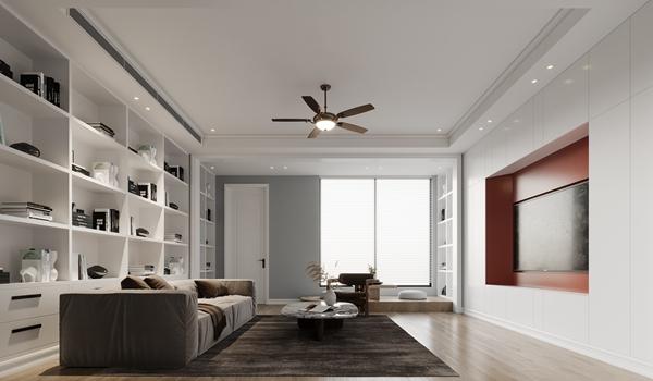 现代风格-万象九里-联排别墅-600平-装修效果图