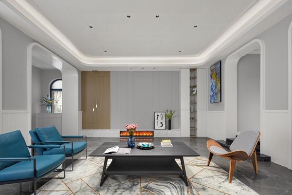 现代轻奢-御景名仕苑-五室三厅-420平-装修实景效果图