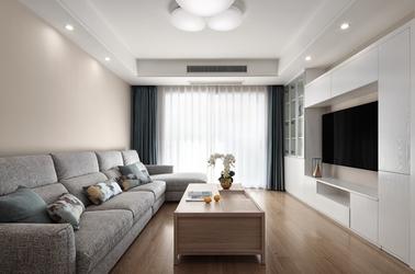 北欧风格-融创亚美利加-三室两厅-136平-装修实景效果图