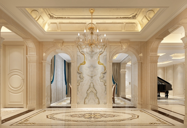 法式风格-檀溪湾-独栋别墅-700平-装修效果图