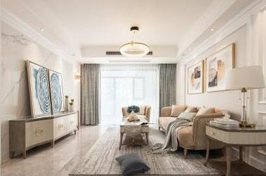 现代美式-玫瑰庄园-三室两厅-140平-装修实景效果图